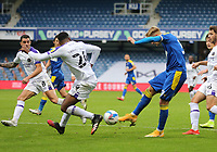 Joe Pigott of AFC Wimbledon shot goes wide during AFC Wimbledon vs Shrewsbury Town, Sky Bet EFL League 1 Football at The Kiyan Prince Foundation Stadium on 17th October 2020