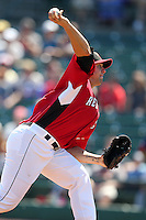 Rochester Red Wings pitcher Chris Province during a game vs. the Pawtucket Red Sox at Frontier Field in Rochester, New York;  August 29, 2010.   Rochester defeated Pawtucket 6-3.  Photo By Mike Janes/Four Seam Images