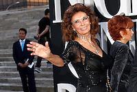 L'attrice Sophia Loren ritratta in occasione dell'One Night Only a Roma, 5 giugno 2013.<br /> Italian actress Sophia Loren portrayed in occasion of the One Night Only fashion event in Rome, 5 June 2013.<br /> UPDATE IMAGES PRESS/Riccardo De Luca