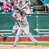 4 September 2017: Tri-City ValleyCats designated hitter Gabriel Bracamonte at bat during the first game of a double-header against the Vermont Lake Monsters at Centennial Field in Burlington, Vermont. The ValleyCats split their games, winning 6-5 in the first, then dropping the second 7-4 to the Lake Monsters in NY Penn League action. Mandatory Credit: Ed Wolfstein Photo *** RAW (NEF) Image File Available ***