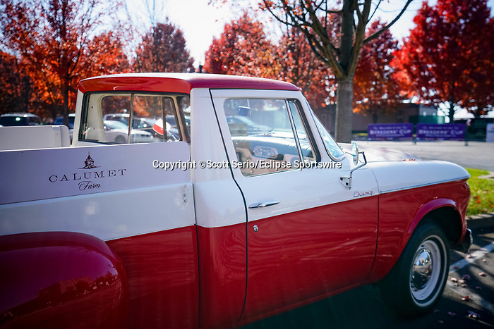 November 6, 2020: A vehicle from Calumet Farm, a Thoroughbred breeding and racing operation, sits in the parking lot at Keeneland Racetrack in Lexington, Kentucky, on Friday, November 6, 2020. Scott Serio/Eclipse Sportswire/Breeders Cup/CSM