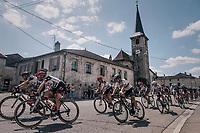 TdF peloton passing through town<br /> <br /> 104th Tour de France 2017<br /> Stage 4 - Mondorf-les-Bains › Vittel (203km)