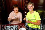 Siobhan O'Connor (Ballyfinane) and Maura Sullivan (Blennerville) attending the coffee morning for the Kerry Hospice in the Grand Hotel on Thursday.