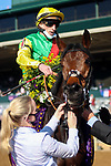 November 7, 2020 : Audarya, ridden by Pierre-Charles Boudot, wins the Maker's Mark Filly & Mare Turf on Breeders' Cup Championship Saturday at Keeneland Race Course in Lexington, Kentucky on November 7, 2020. Leah Vasquez/Breeders' Cup/Eclipse Sportswire/CSM