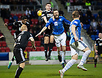 St Johnstone v Hamilton Accies…10.11.18…   McDiarmid Park    SPFL<br />Murray Davidson is sent flying by Aaron McGowan<br />Picture by Graeme Hart. <br />Copyright Perthshire Picture Agency<br />Tel: 01738 623350  Mobile: 07990 594431