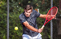 Hilversum, Netherlands, August 5, 2021, Tulip Tennis center, National Junior Tennis Championships 16 and 18 years, NJK, Boys single 18 years Jacco Arends (NED)<br /> Photo: Tennisimages/Henk Koster