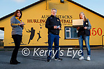 Launching the Austin Stacks online bingo at the club on Friday evening. L to r: Mary Fitzmaurice, Shane Lynch and Eileen Nagle.