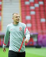 11.06.2012 WARSZAWA (WARSAW POLAND) STADION NARODOWY (NATIONAL STADIUM).PILKA NOZNA (FOOTBALL) UEFA EURO 2012 POLAND UKRAINE MISTRZOSTWA EUROPY W PILCE NOZNEJ POLSKA UKRAINA TRENING REPREZENTACJI POLSKI DZIEN PRZEDM MECZEM Z ROSJA (POLAND NATIONAL FOOTBALL TEAM TRAINING IN WARSAW).N/Z KAMIL GROSICKI.FOTO NORBERT BARCZYK / PRESSFOCUS/NEWSPIX.PL.---.Newspix.pl