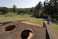 Dominikanische Republik, Ruine der Zuckermühle Ingenio de Caballero bei Nigua westlich von Santo Domingo aus dem 16.Jh.