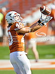 Texas Longhorns safety Matthew Zapata (40) in action during the game between the Brigham Young Cougars and the Texas Longhorns at the Darrell K Royal - Texas Memorial Stadium in Austin, Texas. Texas defeats Brigham Young 17 to 16...