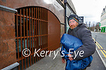 Ian Alexander who sleeps on the streets of Killarney town is dismayed with barriers mounted where he used to sleep