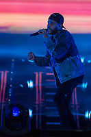 Weeknd performs at the Festival d'ete de Quebec (Quebec Summer Festival) on July 5, 2018.