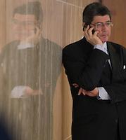 BRASILIA, DF, 02.10.2015 - LEVY-REFORMA -  O ministro da Fazenda, Joaquim Levy, durante declaração sobre a  reforma administrativa do<br /> Governo Federal, nesta sexta-feira, no <br /> Palácio do Planalto.(Foto:Ed Ferreira / Brazil Photo Press)