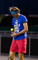 Rotterdam, The Netherlands, 28 Februari 2021, ABNAMRO World Tennis Tournament, Ahoy, Practice. Alexander Zverev (GER).<br /> Photo: www.tennisimages.com