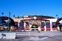 "Ballparks: Anaheim--Entrance to ""new"" Edison International Field, the former Big A. Reconfigured 1998. Photo '99."