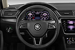 Car pictures of steering wheel view of a 2020 Skoda Superb-Combi-iV Style 5 Door Wagon Steering Wheel