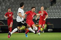 2nd June 2021, Tivoli Stadion, Innsbruck, Austria; International football friendly, Germany versus Denmark;  Mats Hummels Germany challenges Thomas Delaney Denmark