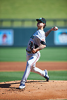 Salt River Rafters starting pitcher Dakota Chalmers (22), of the Minnesota Twins organization, during the Arizona Fall League Championship Game against the Surprise Saguaros on October 26, 2019 at Salt River Fields at Talking Stick in Scottsdale, Arizona. The Rafters defeated the Saguaros 5-1. (Zachary Lucy/Four Seam Images)