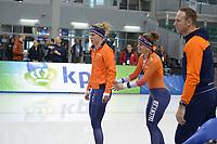 SPEEDSKATING: 12-02-2020, Utah Olympic Oval, ISU World Single Distances Speed Skating Championship, Letitia de Jong (NED), Ireen Wüst (NED), ©Martin de Jong