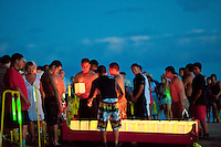 A Japanese floating lantern ceremony is held each summer just before the obon dance at Lahaina Jodo Buddhist Mission, Lahaina, Maui