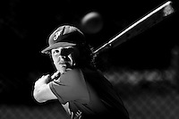Guillaume Lafeuille (France) takes batting practice during a 12 days training camp in Cuba, accross the country.