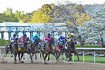 April 10, 2021:#2 Caddo River,#5 Concert Tour,#3 Hozier,#4 Get Her Number,#6 Last Samurai and the winner of the Arkansas Derby, #1 Super Stock at Oaklawn Park in Hot Springs,  Arkansas. Ted McClenning/Eclipse Sportswire/CSM