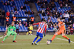 Atletico de Madrid's Yannick Carrasco and SD Eibar's Yoel Rodriguez during Copa del Rey match between Atletico de Madrid and SD Eibar at Vicente Calderon Stadium in Madrid, Spain. January 19, 2017. (ALTERPHOTOS/BorjaB.Hojas)