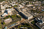 Aerial of downtown Hillsboro and Max terminus, Oregon
