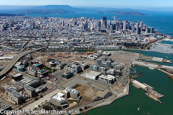 Aerial photograph of Mission Bay, San Francisco, California, 2013