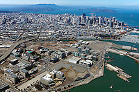 Aerial photograph of Mission Bay, San Francisco, California, 2013