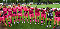 players of Charleroi pictured gathering together ahead of a  female soccer game between Sporting Charleroi and White Star Woluwe on the first matchday in the 2021 - 2022 season of Belgian Scooore Womens Super League , friday 20 August 2021 in Marcinelle , Belgium . PHOTO SPORTPIX | DAVID CATRY