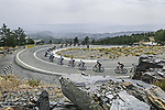 The peloton descend Alto Collado Venta Luisa during Stage 9 of La Vuelta d'Espana 2021, running 188km from Puerto Lumbreras to Alto de Velefique, Spain. 22nd August 2021.    <br /> Picture: Unipublic/Charly Lopez   Cyclefile<br /> <br /> All photos usage must carry mandatory copyright credit (© Cyclefile   Charly Lopez/Unipuplic)