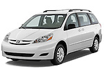Front three quarter view of a 2010 Toyota Sienna CE 8 Passenger.