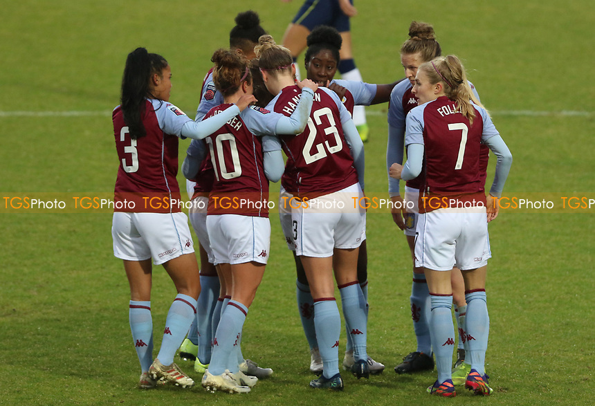 first goal scored for Aston Villa by Nadine Hanssen of Aston Villa as she celebrates with her teammates during Tottenham Hotspur Women vs Aston Villa Women, Barclays FA Women's Super League Football at the Hive Stadium on 13th December 2020