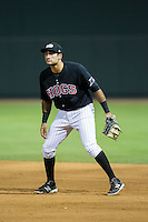Winston-Salem Dash first baseman Nick Basto (17) on defense against the Salem Red Sox at BB&T Ballpark on June 16, 2016 in Winston-Salem, North Carolina.  The Dash defeated the Red Sox 7-1.  (Brian Westerholt/Four Seam Images)