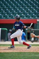 Yeison Ceballo (12) during the Dominican Prospect League Elite Underclass International Series, powered by Baseball Factory, on August 2, 2017 at Silver Cross Field in Joliet, Illinois.  (Mike Janes/Four Seam Images)