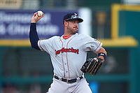 Pawtucket Red Sox third baseman Travis Shaw (21) throws to first during a game against the Rochester Red Wings on July 1, 2015 at Frontier Field in Rochester, New York.  Rochester defeated Pawtucket 8-4.  (Mike Janes/Four Seam Images)