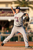 Pitcher Jack Egbert of the St. Lucie Mets during the game against the Daytona Beach Cubs at Jackie Robinson Ballpark on May 25, 2011 in Daytona Beach, Florida. Photo by Scott Jontes / Four Seam Images