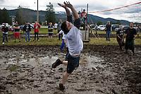 at the 2011 Mud Volleyball Tournament in Laclede, ID sponsored by the Kodiak Bar. .(©Matt Mills McKnight/2011)