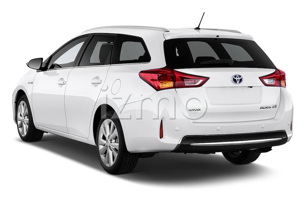 2013 Toyota Auris Premium Hybrid Touring Sports Wagon Angular Rear Stock Photo