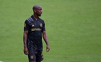 LOS ANGELES, CA - OCTOBER 25: Bradley Wright-Phillips #66 of LAFC during a game between Los Angeles Galaxy and Los Angeles FC at Banc of California Stadium on October 25, 2020 in Los Angeles, California.