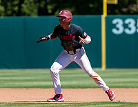 STANFORD, CA - JUNE 4: Drew Bowser during a game between North Dakota State and Stanford Baseball at Sunken Diamond on June 4, 2021 in Stanford, California.