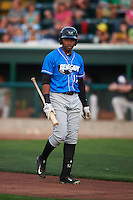 Hudson Valley Renegades designated hitter Manny Sanchez (17) during a game against the Vermont Lake Monsters on September 3, 2015 at Centennial Field in Burlington, Vermont.  Vermont defeated Hudson Valley 4-1.  (Mike Janes/Four Seam Images)