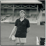 JUNE 1995    -  Sydney, Australia   - Peter a rugby player at a park with his mates in Sydney. .