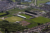 Aerial view of Stradey Park in Llanelli