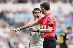 Alvaro Morata of Real Madrid argues with the referee during the match Real Madrid vs RCD Espanyol, a La Liga match at the Santiago Bernabeu Stadium on 18 February 2017 in Madrid, Spain. Photo by Diego Gonzalez Souto / Power Sport Images