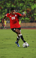 Hussam Arafat dribbles the ball during the FIFA Under 20 World Cup Round of 16 match at the Cairo International Stadium on October 06, 2009 in Cairo, Egypt.