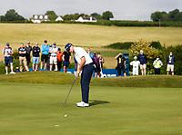 2nd July 2021; Mount Juliet Golf Club, Kilkenny, Ireland; Dubai Duty Free Irish Open Golf, Day Two; John Catlin of the USA putts on the 15th green