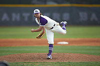 High Point Panthers relief pitcher Cooper Jeffers (37) delivers a pitch to the plate against the Campbell Camels at Williard Stadium on March 16, 2019 in  Winston-Salem, North Carolina. The Camels defeated the Panthers 13-8. (Brian Westerholt/Four Seam Images)