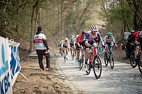 Jasper Stuyven (BEL/Trek-Segafredo) up the brutal Moskesstraat<br /> <br /> 61st Brabantse Pijl 2021 (1.Pro)<br /> 1 day race from Leuven to Overijse (BEL/202km)<br /> <br /> ©kramon
